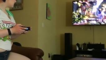 Gaberiella Monroe Shedding at Mortal Kombat By and striping off my towels