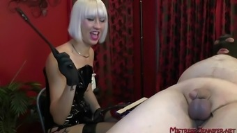 Femdom strapon Mistresses walkout and torture males servant and slaves