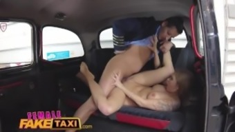 Ladies Fake Taxi Preliminary brings face after squeeze his tilt in Euro pussy