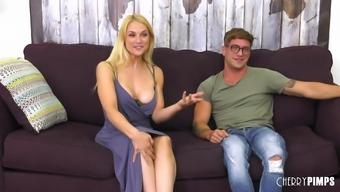 Sarah Vandella serves as a lovely blond needing a tough penis