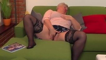 Stout mature female fooling around
