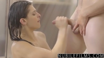 NubileFilms - Warm Shower Love-making With the use of Leah Gotti