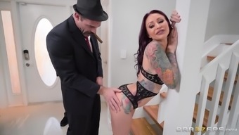 Monique Alexander cannot refrain from a generous hunk's competent feel