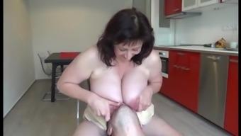 Mature tits play.mp4