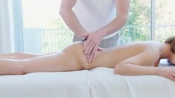 PornPros Blond Dillion Harper massage session fuck and skin