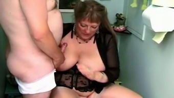 Fat granny in Two Tobacco Barrels