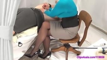Mistress Handjob Tease In Pantyhose