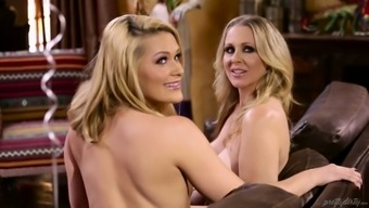 Johnny Chateau fucks Abby Go over and her arrange lesbian girlfriend
