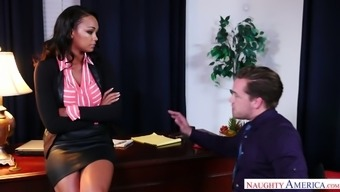 Seductive top notch supervisor Motor bike Dean gets caring with tainted co-worker
