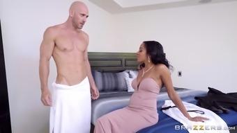 johnny sins demonstrates his major boner to effectively anya ivy