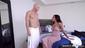 johnny sins demonstrates his major boner to effectively anya ivy