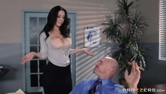 jayden jaymes whips out her titties and allow johnny worship those particular substantial boobs