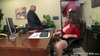 alison tyler has ceo's son intake her ravenous pussy beneath her desk