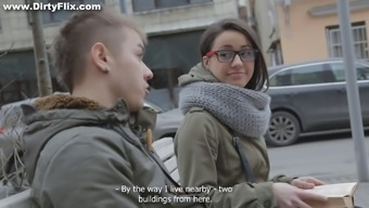Cute teenager in spectacles getting bonked greyhound dog trend with the cooking