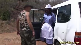 Ridiculous sex by using a hot chocolade baby at my natural environment african-american jeep pornography trip