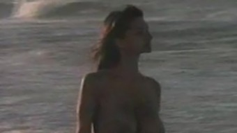 Beautiful little girls with the use of Large boobs naked on beach