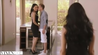 VIXEN Sizzling Latina Posses Her Man Along with Roommate
