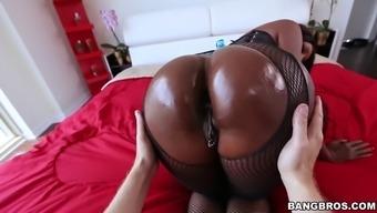 diamond knutson gets her major dark colored ass worshipped
