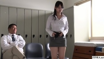 JAV be famous turned instructor Rei Mizuna striptease Subtitled