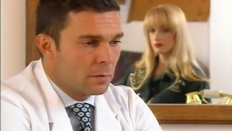 Male gynecologist assessments hirsuite pussy of a fascinating black date