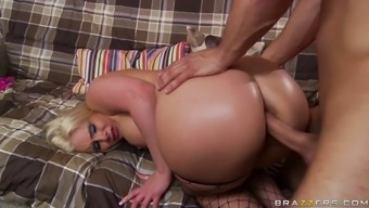 houston marie trying attractive fishnet panties getting her butt destroyed through a challenging junk