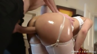 samia duarte trying white intimate apparel getting crushed doggystyle