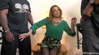 Always sex-hungry bitch Kiki Daire gets fucked through a partners of black males