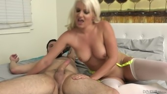 Layla Costs is mean that are caused by the excitement of driving her lover's lift on video camera