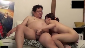gorgeous asian youngster go along with uncensored sex with the use of old man