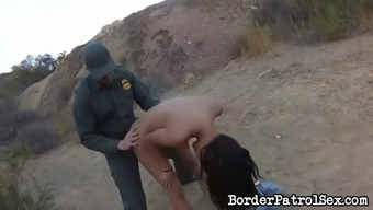 poor latina josie jagger gets snagged and fucked by outer reaches patrolman