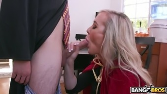 milf brandi completely love gives masterful blowjob to really juan