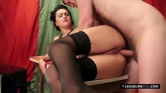 LaSublimeXXX Leyla Black gets complicated large penis among the booty