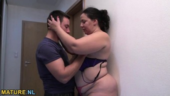 Excess weight and hot mature gets fucked challenging by a young man