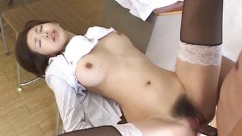 Mai Hanano Beautiful Japanese people teacher fucked part5
