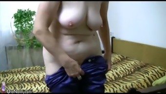 OldNanny Old granny acts with the use of young man and sextoy