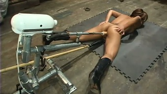 Jasmine Byrne gets unforgettably exploded through a fucking equipment
