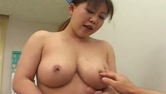 Big tits Japanese people look after informs her patient to enduldge in sex together
