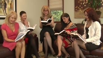 Nina Hartley is definitely one bootylicious senior ladies and she or he treasures lesbian orgies