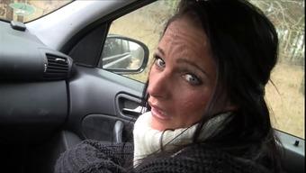 Milf blowjob in automobile