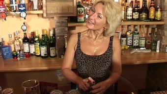 Slutty granny under the influence of alcohol to strong orgasm at the bar inside a possibility shoot