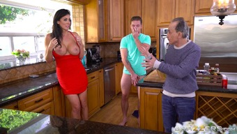 Fascinating Reagan Foxx gives the duded a cowgirl drive with the cooking