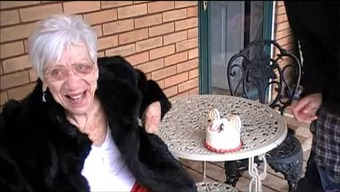 Grany Marge gets guy shaft for her ninetieth wedding anniversary