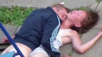 Drank Partners Having Sex in the community Park
