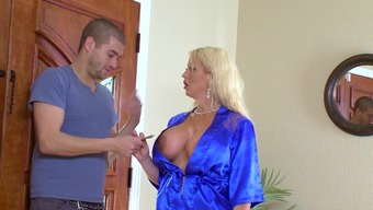 Cougar mother fucked while you're in the shower by fortunate move son