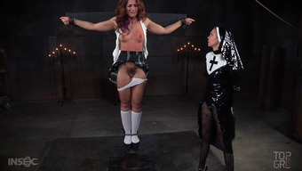 This senior redheaded continues to be incredibly wayward as well as having the nun will likely slap the wrists of her!