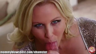 Blond milf Julia Ann knows he gives the best blowjob