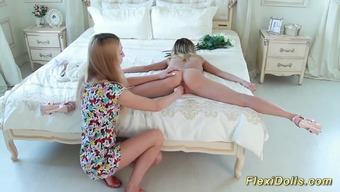 Lean flexible legitimate youngster doll gets severe lengthened by her girlfriend