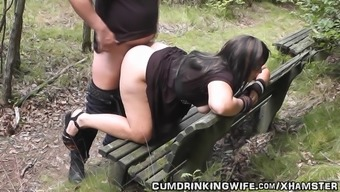 Dogging wife fucked by complete strangers in October year 2016