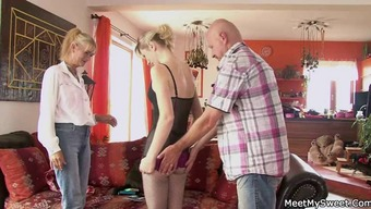 Perverted mom and dad seduces their personal son's date