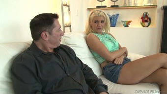 Rubbishy looking anus of Layla Costs is impaled on challenging penis